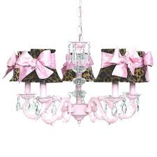 jubilee collection glass turret pink five light mini chandelier with leopard and sash chandelier shades