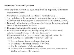 steps to balancing chemical equations jennarocca