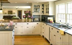 White Country Kitchen Cabinets Country Cottage Style Kitchens Full