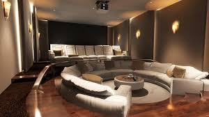 cinema room furniture. circle sofa for interior home cinema design ideas with good lighting room furniture