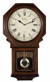 bulova c3543 ashford ii chiming regulator wall clock