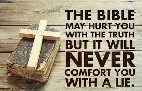 The bible may hurt you with the truth, but it will... • Sermon Quotes