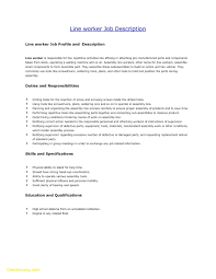 Resume Examples For Factory Workers Cv For Warehouse Worker Duties