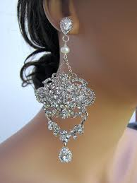 large and long dangle statement bridal chandelier earrings chelsea