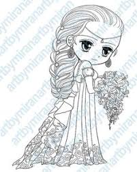 Small Picture Digital Digi Stamps Big Eye Doll Coloring Page Girl with Dove