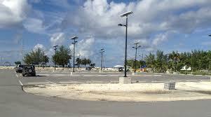 camana bay cayman islands solar parking lot lighting