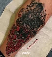 фото татуировки рыцарь в стиле нео традишнл нью скул татуировки на
