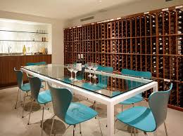 wine room furniture. Series 7 Chairs In Blue Create A Cool Wine Tasting Room [Design: Ehrlich Architects Furniture
