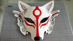 japanese for mask half face leather japanese samurai wolf head cosplay mask masque