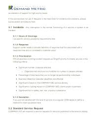 help desk service level agreement template service level agreement template