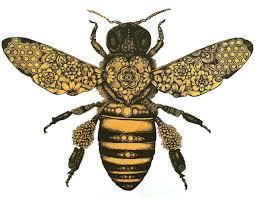 Jenya Vateeva Artsy пчелинное искусство тату с пчелой и рисунки