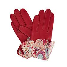 pink leather gloves women s