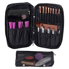 valdler makeup organizer bag with partments portable cosmetic brush holder black 11street msia travel bags