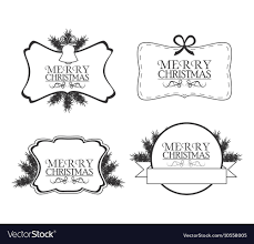 Merry Christmas Labels Design Royalty Free Vector Image