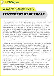 Statement Of Purpose Graduate School Example Impressive And Useful Statement Of Purpose Sample