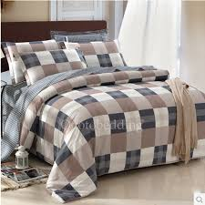 brown and gray plaid best high end duvet covers for man obd081914