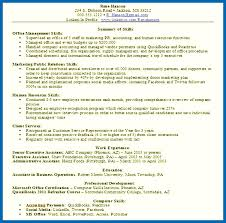 Example Resume Work Experience Section