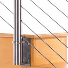 stainless steel cable railing hardware. Brilliant Cable Pre Drilled Round Stainless Steel Fascia Side Mount 36in Post  Cable Railing Hardware Throughout