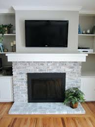 painting brick fireplace inspiration photos for a fireplace with a grey paint wash on brick painting painting brick fireplace