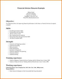 Financial Advisor Resume Template Resume Builder