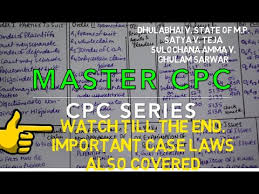 Civil Procedure Rules Chart Civil Procedure Code Tips To Learn Master Cpc Watch Till The End To Know About Imp Case Laws