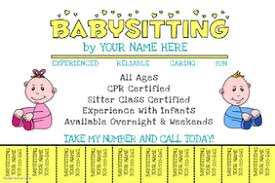 Babysitting Ads Customize 200 Babysitting Flyer Templates Postermywall