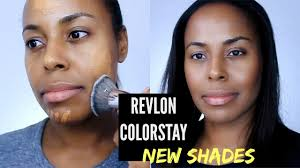this video is about revlon colorstay foundation in the bination oily skin formula there are two new shades in the dark shade range that i wanted to