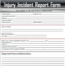 Accident Report Form Template Free Sample Example Format Download ...