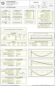 Glulam Span Chart Table Timber Beam Joist Design Spreadsheet