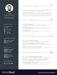 Minimalist Resume Minimalist resume cv template with nice typography 20