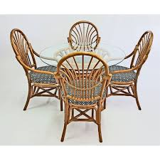 rattan round dining table chairs