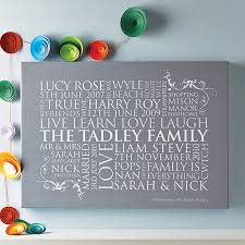 personalised family word art print grey canvas on personalised baby wall art uk with personalised family word art print by cherry pete