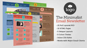 newsletter template for pages the minimalist html email template 25 pages by berber themeforest