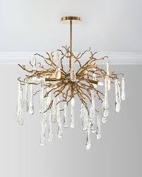 john richard collection brass and glass teardrop 7 light chandelier neiman marcus