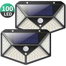 Solar <b>Lights</b> Outdoor, Kilponene Upgraded <b>100 LED Solar</b> Motion ...