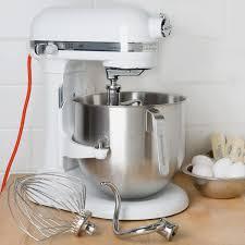 kitchenaid 8 quart commercial mixer. kitchenaid ksm8990wh white nsf 8 qt. bowl lift commercial countertop mixer - 120v, 1 kitchenaid quart