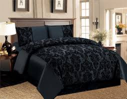 black bedding new royal damask duvet cover set double size bedding black sweetgalas