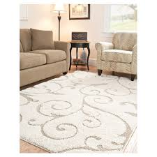 stylish white area rug regarding 3 x 5 in beige off with scrolling fl design 14