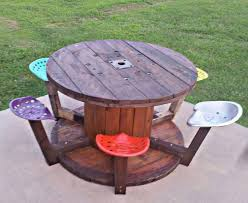 wire spool table for kids