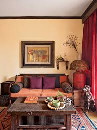 Living Room With Pops Of Color From Goodies Weve Picked Up While - Home interior ideas india