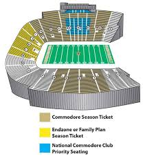 Vanderbilt Seating Chart Neyland Stadium Seating Chart Information Specific