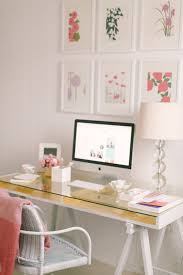 Girly Workspace With Gallery Wall