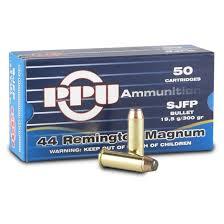 ppu 44 remington magnum sjfp 300 grain 50 rounds