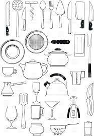 kitchen utensils silhouette vector free. Tableware - Kitchen Utensils Silhouettes Royalty Free Vector Clip Art Silhouette Y