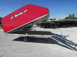 2018 triton trailers xt 12 on off snowmobile trailer flatbed