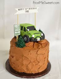 Jeep Grooms Cake Man Cake By Frost Me Sweet Groom Cake In 2019