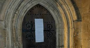 martin luther style protest for bible sexuality against gay  anglicans pin 95 theses style complaint on lgbt issues to doors of 5 uk cathedrals