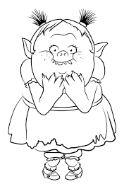 Small Picture Trolls Holiday movie Coloring Pages