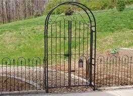 wrought iron 6 arbor gate combo