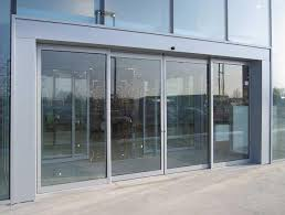 automatic sliding main entrance glass door